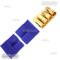 1 PAIR Male & Female RC EC3 Lipo Battery Connector Gold Bullet Plug - EC3