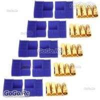 5 PAIR Male & Female RC EC3 Lipo Battery Connector Gold Bullet Plug - EC3x5