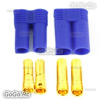 1 Pair 5mm EC5 Bullet Connector Male + Female Plugs Adapters Battery Losi - EC5-A