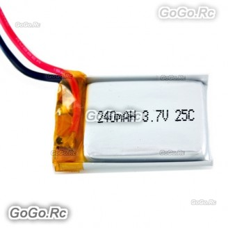 2 Pcs 3.7v 240mAh LiPo Battery for Hubsan X4 H107L RC Quadcopter