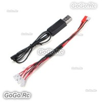 1 to 5 Balance + USB Charging Cable For 3.7V Battery Hubsan X4 Syma X5 Walkera