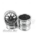 4x 1/10 RC Car 14 Spoke Metallic Plate Wheel Rim (1010)