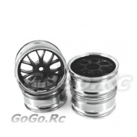 4x 1/10 RC Car 14 Spoke Metallic Plate Wheel Rim (1010)