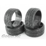 4 Pcs 1/10 RC Car HPI Drift Tyre Hard Rubber Tires 6014