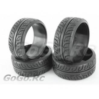 4 Pcs 1/10 RC Car HPI Drift Tyre Hard Rubber Tires 6014