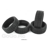 4 Pcs 1/10 RC on-road Car rubber high grip tires (6017)