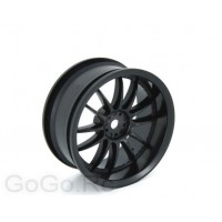 4 Pcs 1/10 RC Car 12 Spoke Wheel Rim Sports Black 6031