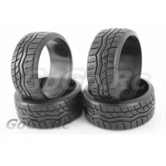 4 Pcs 1/10 RC Car HPI Drift Tyre Hard Rubber Tires 9016