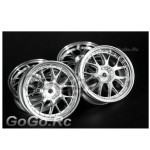 4 Pcs 1/10 RC Car Wheel Rim Sports Silver 9030