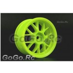 4 Pcs 1/10 RC Car Wheel Rim Sports Green 9043
