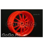4 Pcs 1/10 RC Car 12 Spoke Wheel Rim Sports 9046