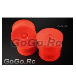 4 Pcs 1/10 RC Car Rims Wheel Orange 9071