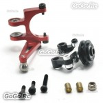Devil 450 Red Tail Control Arm Assembly With Bearings For TRex 450 V2 V3 PRO