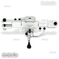 ALZ CNC Flybarless Main Rotor Head Set Parts Silver For 450 DFC Helicopter