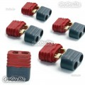 5 Pcs Female Amass T Plug Deans Connectors with Insulated caps