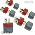 5 Pcs Male Amass T Plug Deans Connectors with Insulated caps