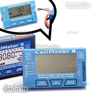 CellMeter 1-8S Voltage Tester Checker for Li-Po/Li-lon/Li-Fe NiCd/NiMH Battery
