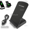 2 Coil 10W Wireless Qi Fast Charger Charging Stand Holder For iPhone X 8 8 Plus