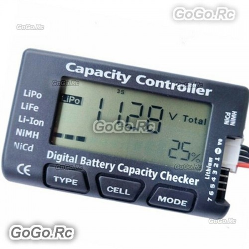Digital Battery Capacity Checker RC CellMeter 7 Fr LiPo LiFe Li-ion NiMH Nicd