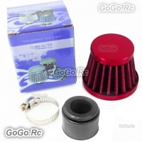 22 mm RED CONE MINI OIL AIR INTAKE CRANKCASE VENT VALVE COVER BREATHER FILTER