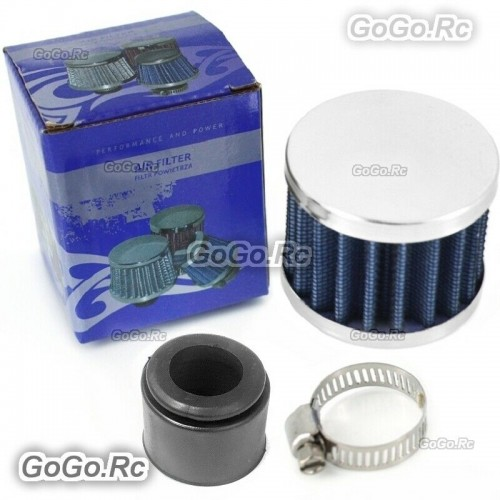 25mm Blue MINI AIR INTAKE CRANKCASE BREATHER FILTER VALVE COVER VENT