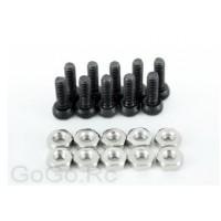 Socket Cap Screws M2 X 6mm & M2 Hex Nuts X10 Pcs (CA009)