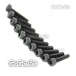 10 x Socket Head Cap Screws M2.5 x 10mm (CA020)