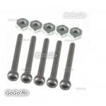 5 Pcs M2.5 X 20mm Socket Cap Screws & M2.5 Hex Nuts - CA032