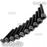 10 Pcs Socket Head Cap Screws M2.5 x 20mm - CA040