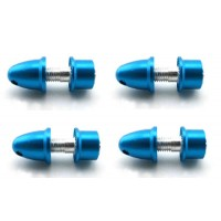 4 Pcs Blue Propeller Shaft Adapters For 3mm Shaft Motor Brushless 5mm Shaft