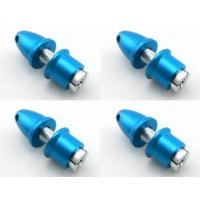 4 Pcs Blue Propeller Shaft Adapters For 3.17mm Shaft Motor Brushless 5mm Shaft