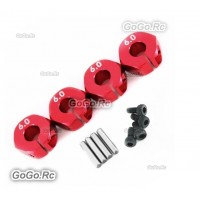Aluminum Wheel Hex 6.0 Drive Adaptor With Pins Screws Red TB01 TB02 TA05 TG10