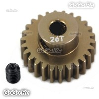 Alloy 7075 Hard Coated Motor Gear 48P 26T for 1/10 RC Car SAKURA D3
