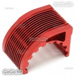 Aluminum CNC Heat Sink Radiator For 42mm Motor Castle 1515 XERUN - Red