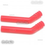 2x Red HSP Exhaust Pipe Silencer Extension Silicone Tube - 1/10 Nitro Rc Car