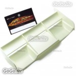 Hi Down Force Rear Spoiler Wing White For 1 : 8 Buggy RC Off Road Cars