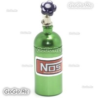 RC 1/10 Scale Accessories METAL NITROUS NOS BOTTLE Drift Car On Road - Green