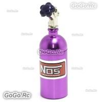 RC 1/10 Scale Accessories METAL NITROUS NOS BOTTLE Drift Car On Road - Purple