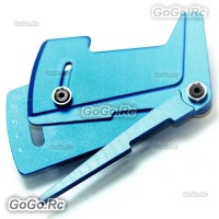 CNC Aluminum Suspension Ride Height & Camber Gauge Tool for 1/10 RC Car Blue