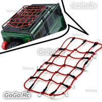 Elastic Luggage Net W/Hook for 1/10 SCX10 D90 TRX4 RC Truck Roof Rack Crawler RD