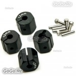 12mm Black Wheel Hex Mounting Adaptor Thickness 12mm For 1/10 D90 SCX10 CC01