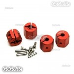 12mm Red Wheel Hex Mounting Adaptor Thickness 12mm For 1/10 D90 SCX10 CC01