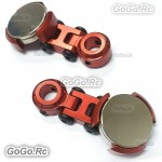 2 Pcs Red Invisible Body Shell Post Column Mount Strong Magnet For 1/10 RC Car