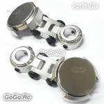 2 x Silver Invisible Body Shell Post Column Mount Strong Magnet For 1/10 RC Car