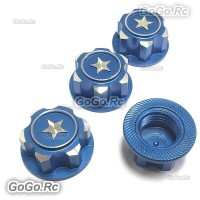 Metal 17mm Hex Wheel Mount Nuts Parts Blue for Traxxas X-MAXX Summit RC Car