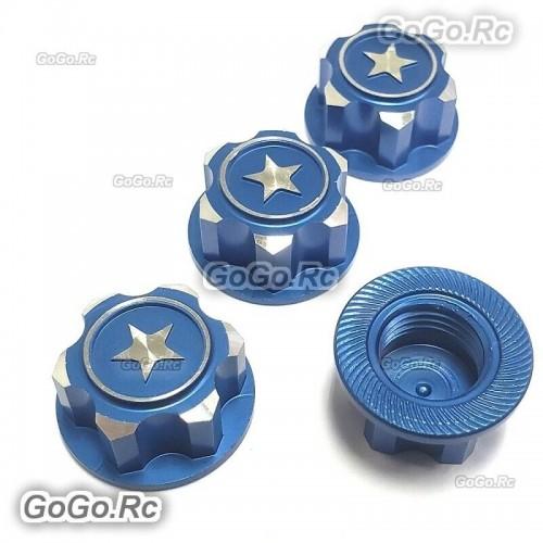 Metal 17mm Hex Wheel Mount Nuts Parts Blue for Traxxas X-MAXX Summit RC Car