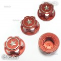 Metal 17mm Hex Wheel Mount Nuts Parts Red for Traxxas X-MAXX Summit RC Car
