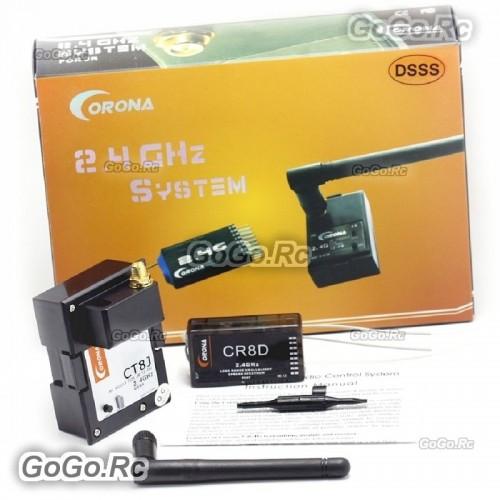 Corona 2.4Ghz CT8J Module & CR8D 2.4GHz DSSS 8CH Receiver For JR TZ FM Tranmitter