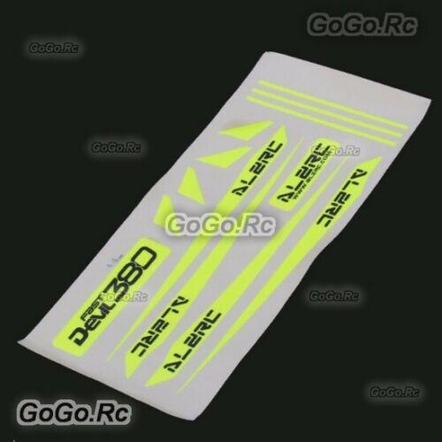 ALZRC - Devil 380 FAST Carbon Fiber Landing Skid Color Sticker Yellow D380-U10-Y