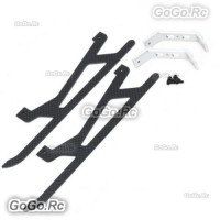 Devil 450 465 480 Metal Carbon Landing Skid Set Fit T-REX 450L Helicopter D45F16